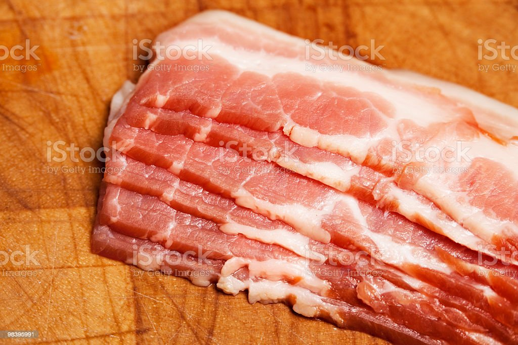 Canadian bacon close-up royalty-free stock photo