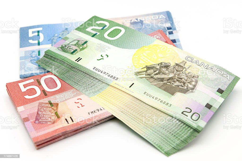 Canadian Banknotes stock photo