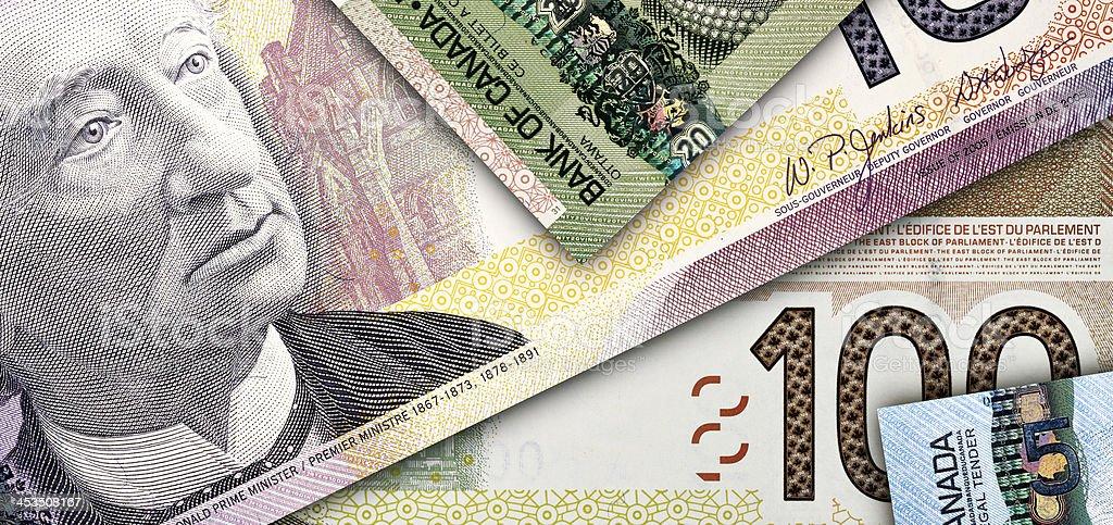 Canadian Banknotes royalty-free stock photo