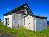 Haut Gaslesie. Quebec.-  Old wooden barn in the countryside