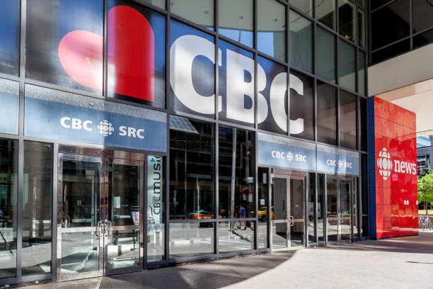 Canadian Broadcasting Centre (CBC) in Toronto. stock photo
