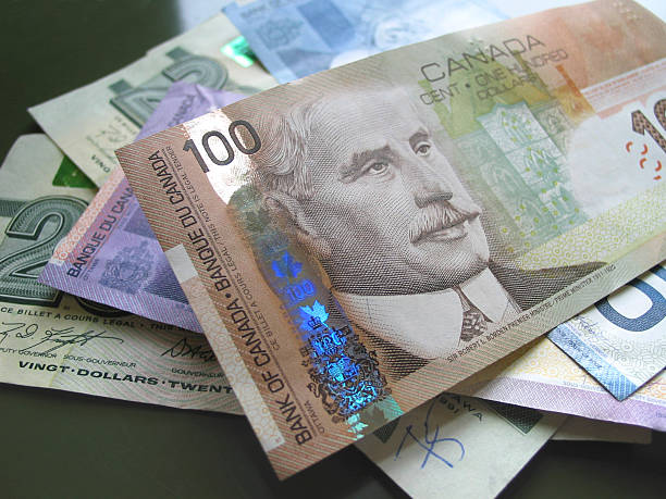 Canadian Cash stock photo