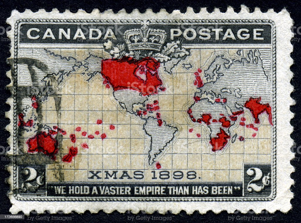 Canadian Christmas Stamp stock photo