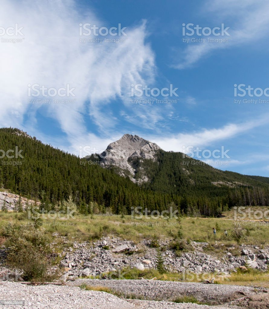Canadian cloud swirl royalty-free stock photo