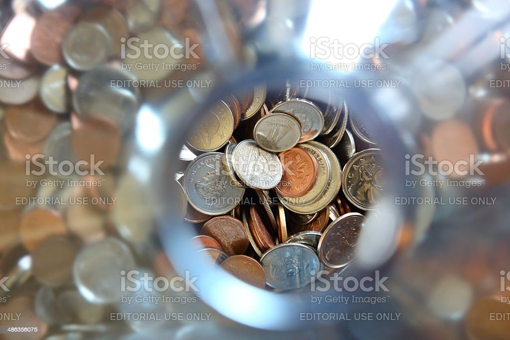 Canadian Coins stock photo