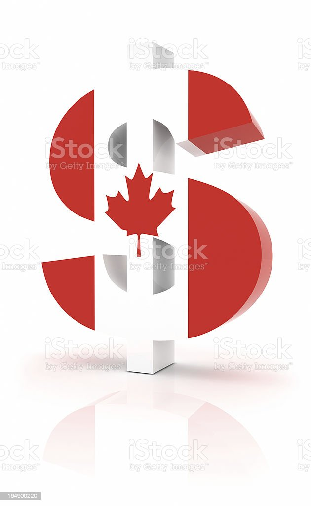 Canadian Currency royalty-free stock photo