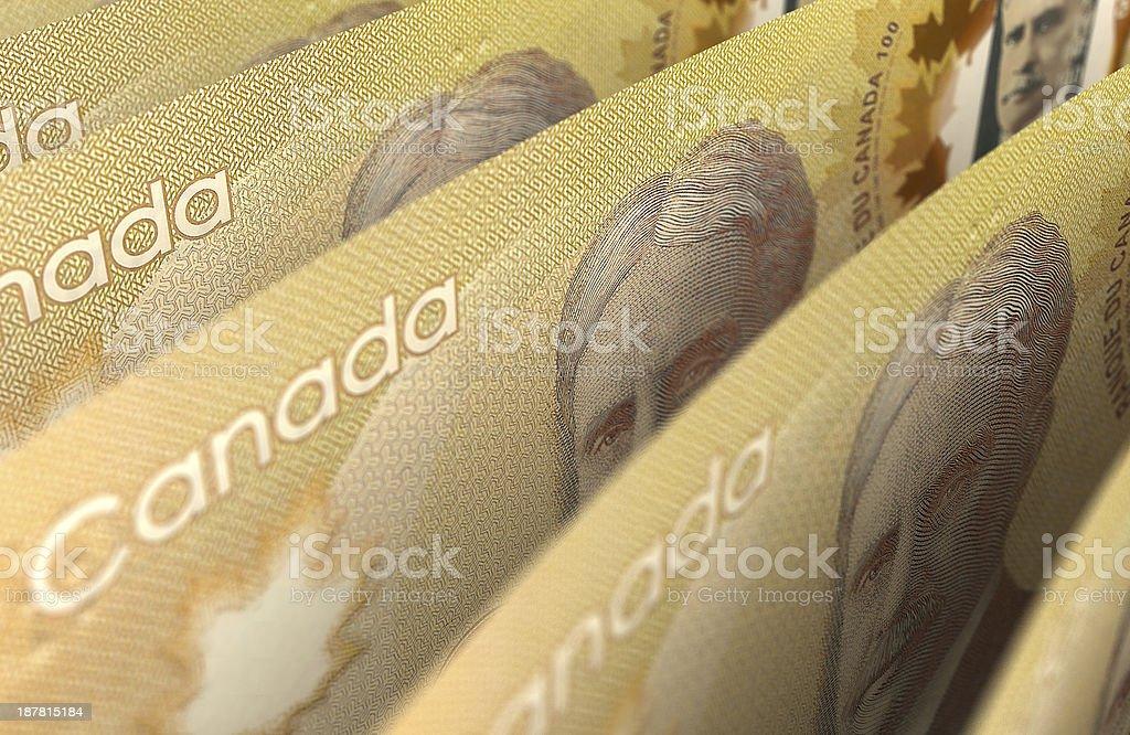 Canadian Dollar Closeup stock photo