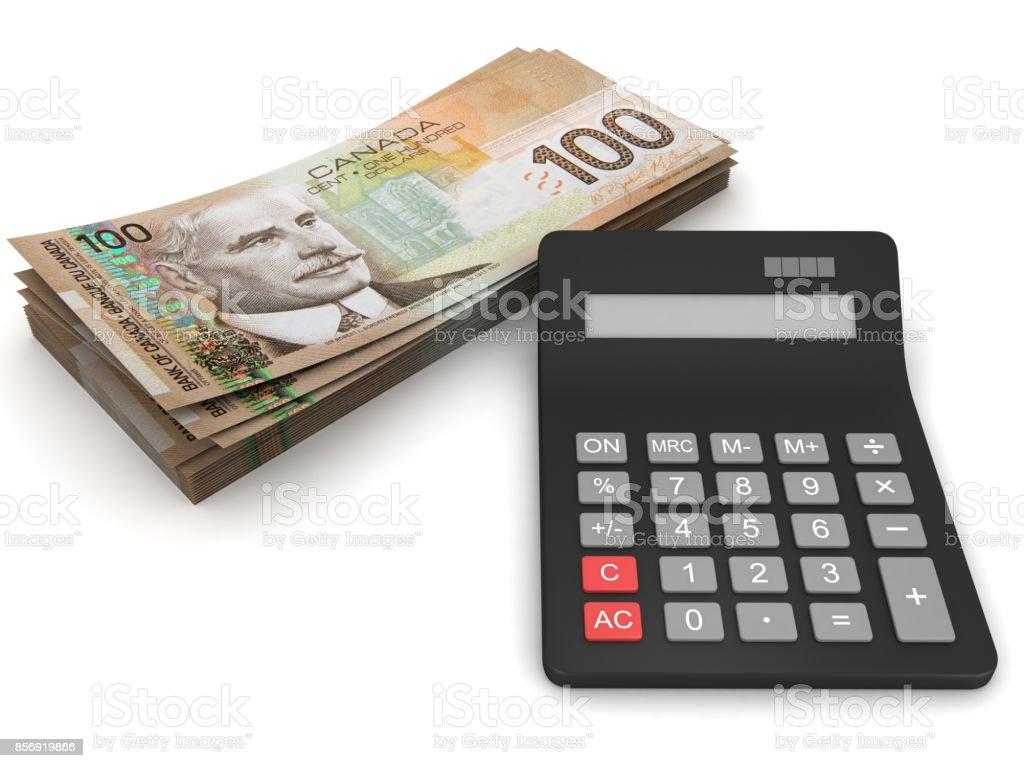 Kanadische Dollar Geld Rechner – Foto