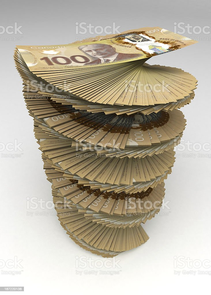 Canadian Dollar Tower royalty-free stock photo