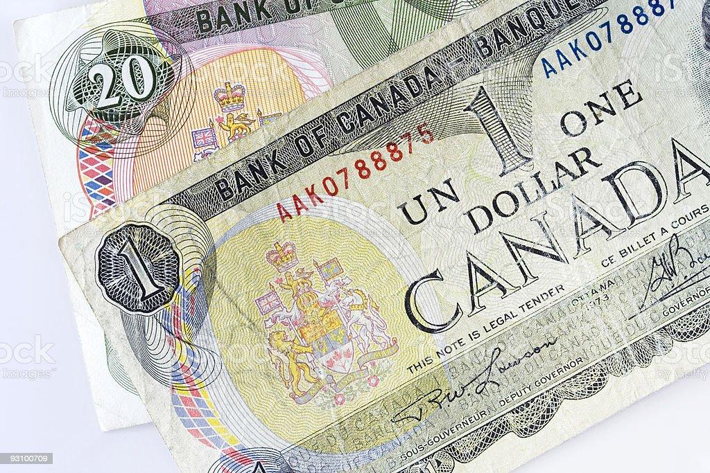Canadian dollars royalty-free stock photo