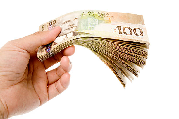 Canadian Dollars stock photo