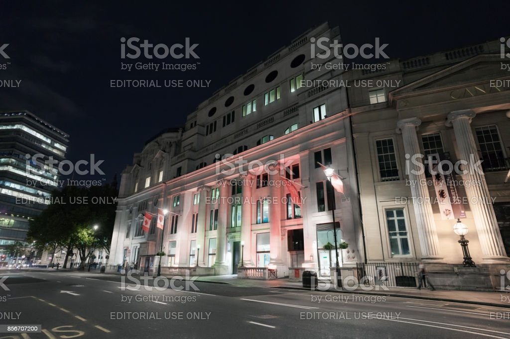 Canadian Embassy in central London stock photo