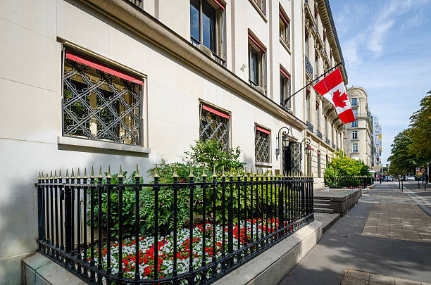 Canadian Embassy in Paris stock photo