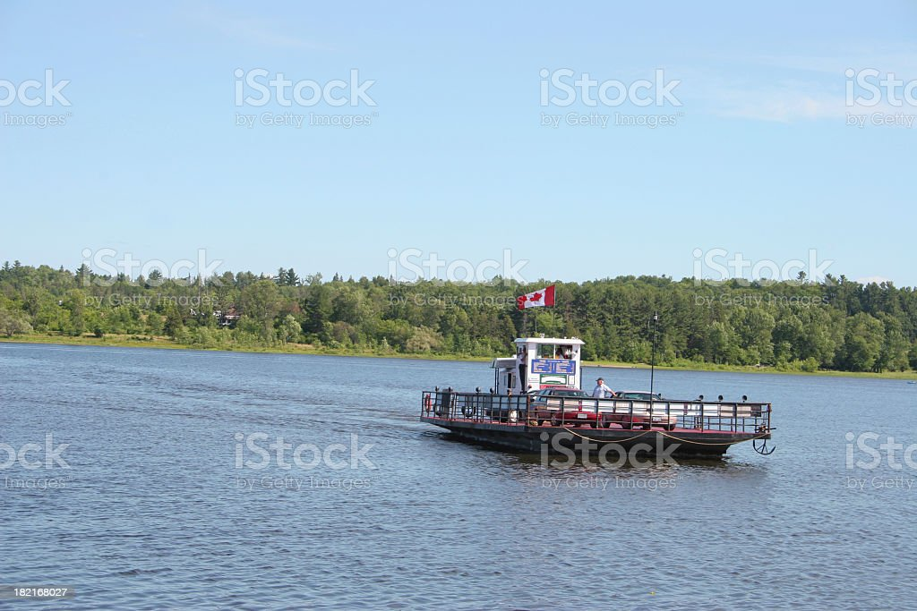 Canadian ferryboat royalty-free stock photo
