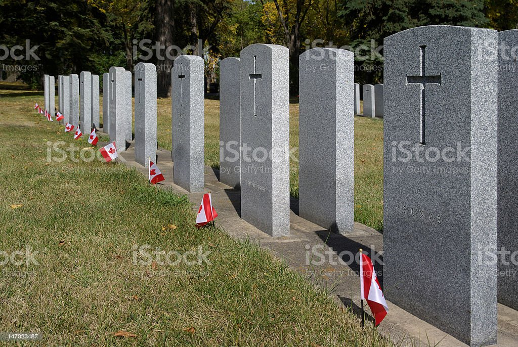 Canadian Field of Honour stock photo