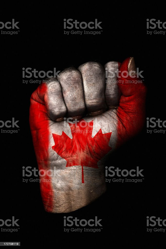 Canadian Fist royalty-free stock photo