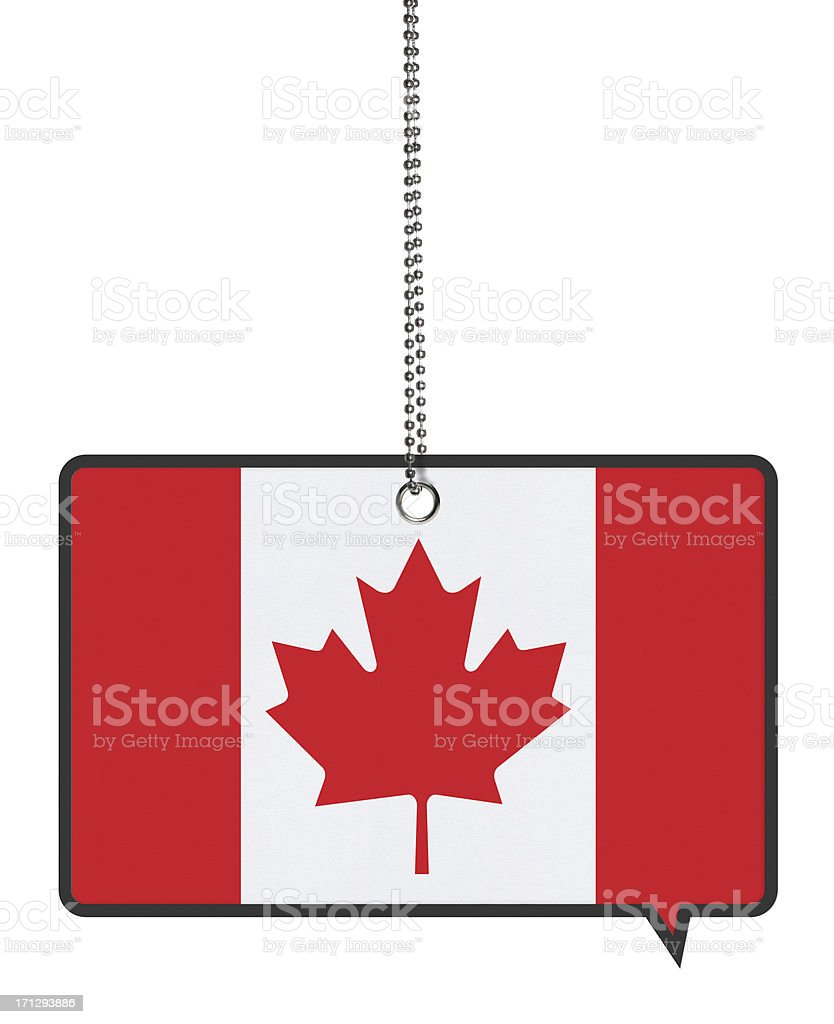 Canadian Flag Bubbles (Clipping Path) royalty-free stock photo