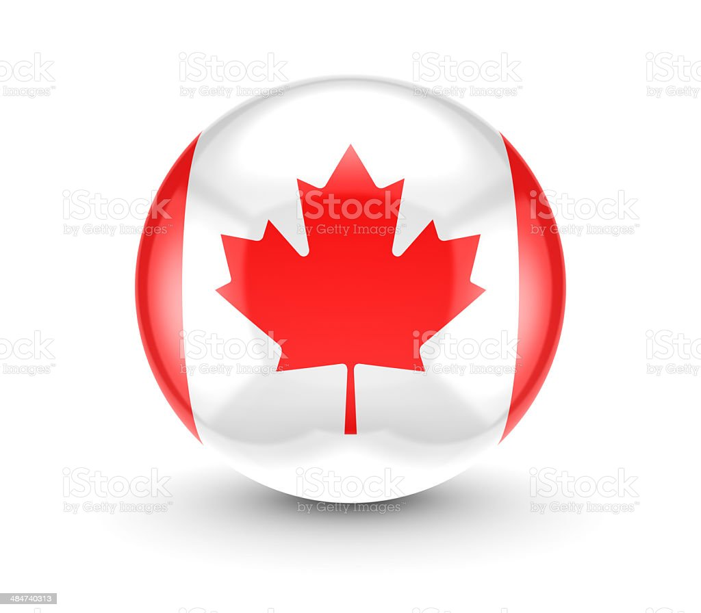 Canadian flag icon. stock photo