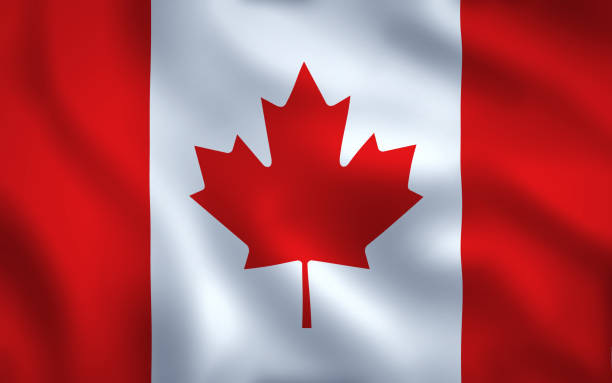Canadian Flag Image Full Frame Canada Flag Waving Background Texture canada flag photos stock pictures, royalty-free photos & images