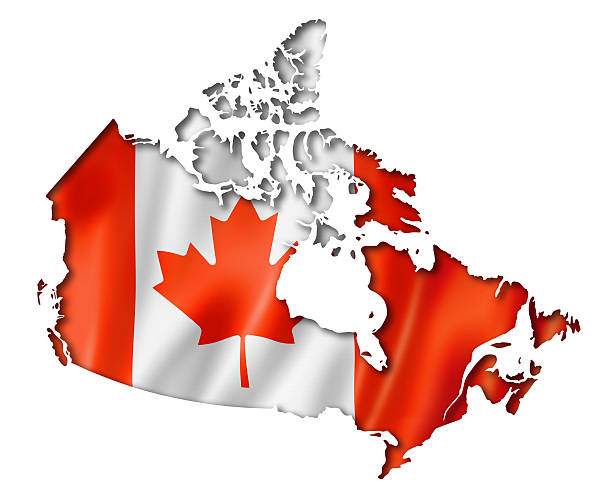 Canada Map Pictures Images And Stock Photos IStock - Canada map with flag