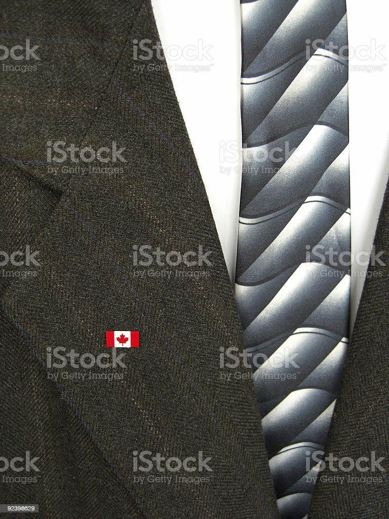 Canadian flag on coat royalty-free stock photo
