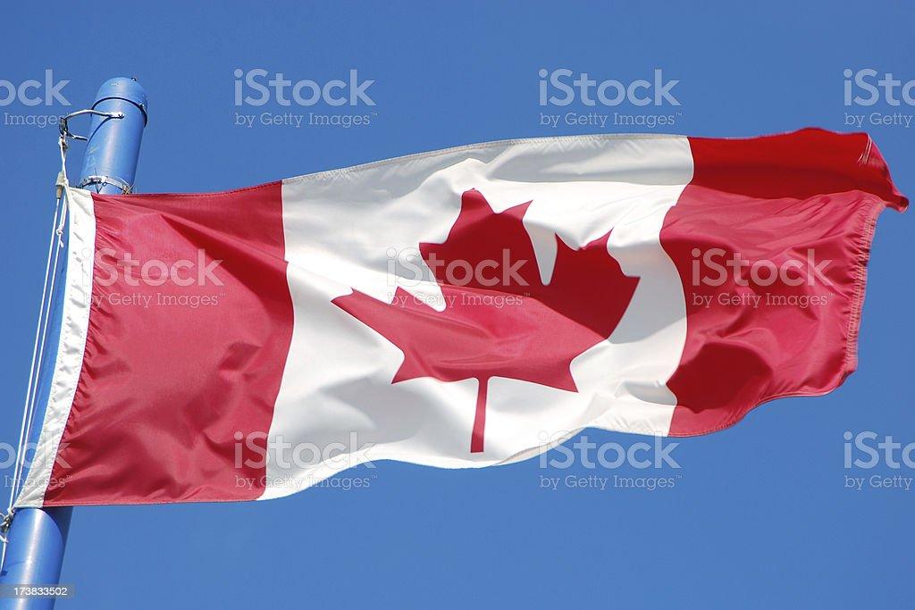 Canadian Flag royalty-free stock photo