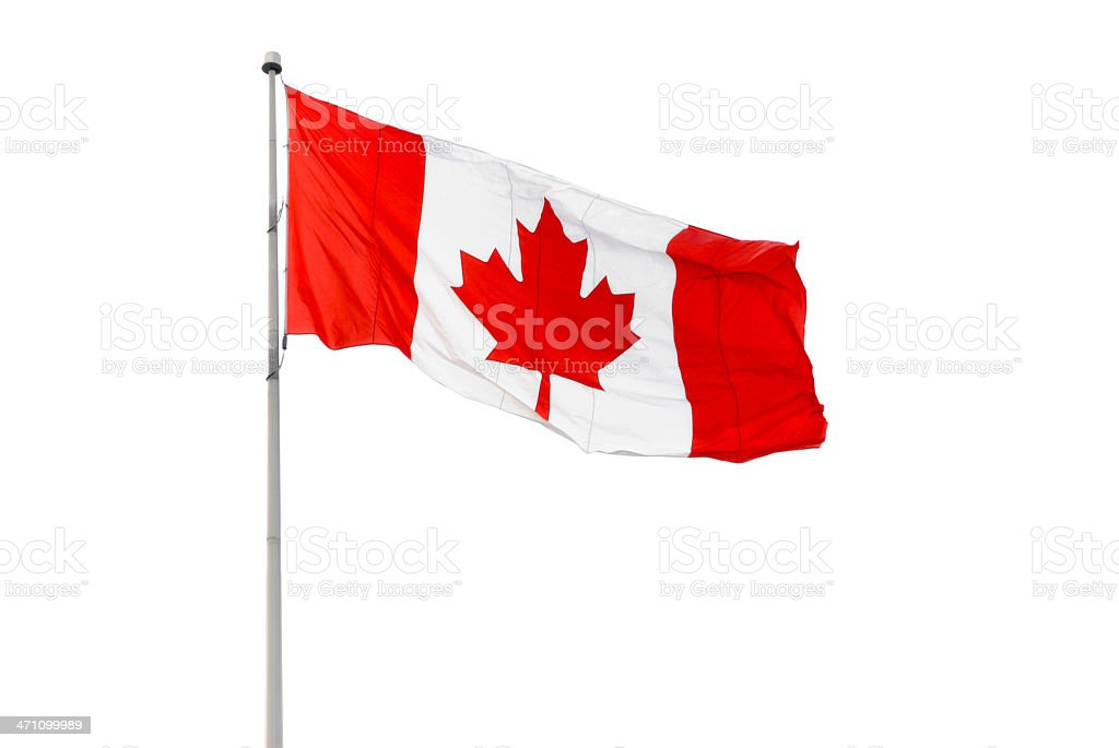 Canadian Flag Canadian flag on white background Canada Stock Photo