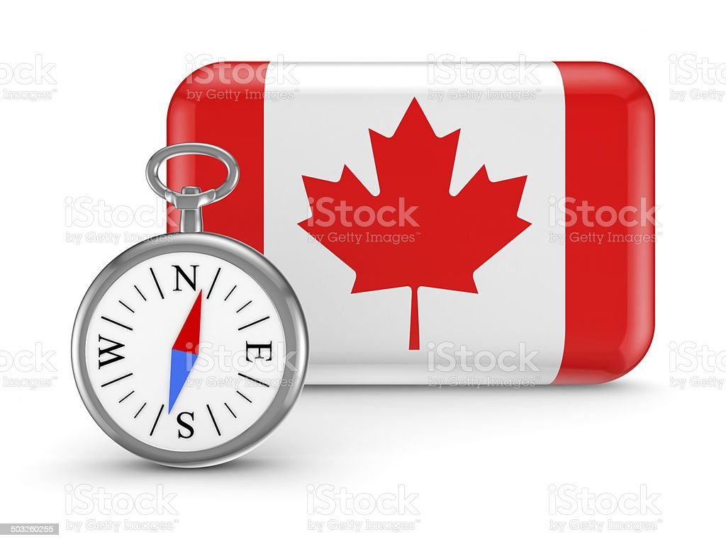 Canadian flag. royalty-free stock photo