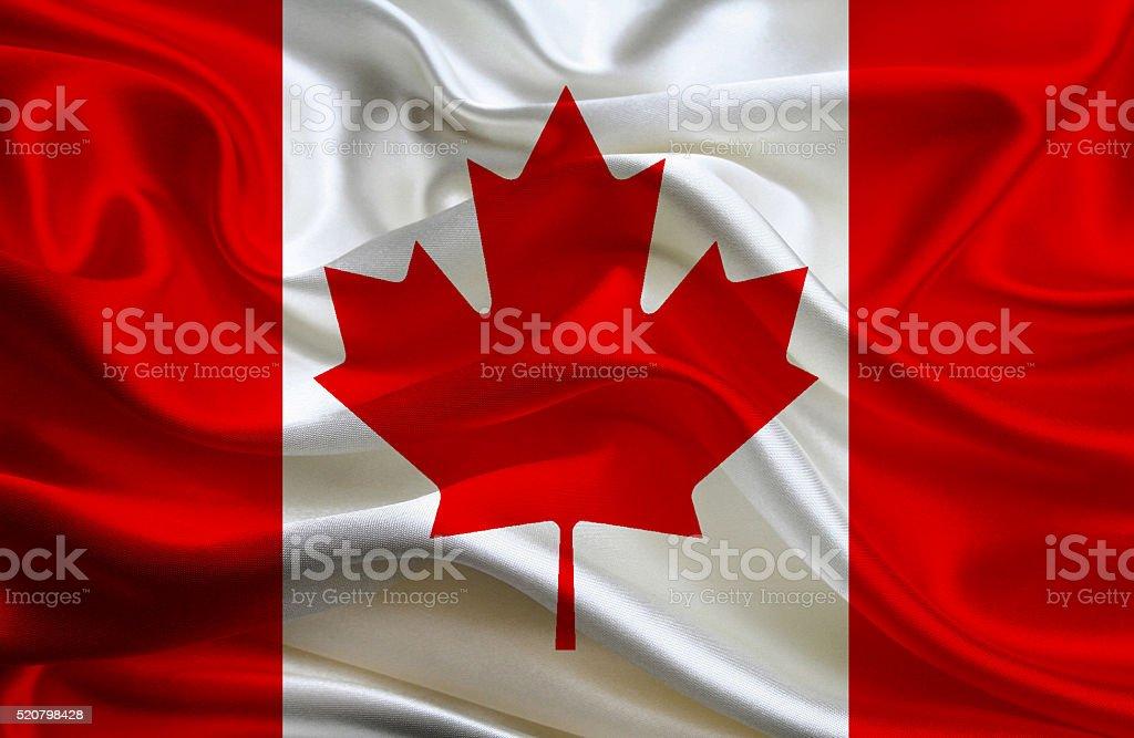 Canadian flag stock photo