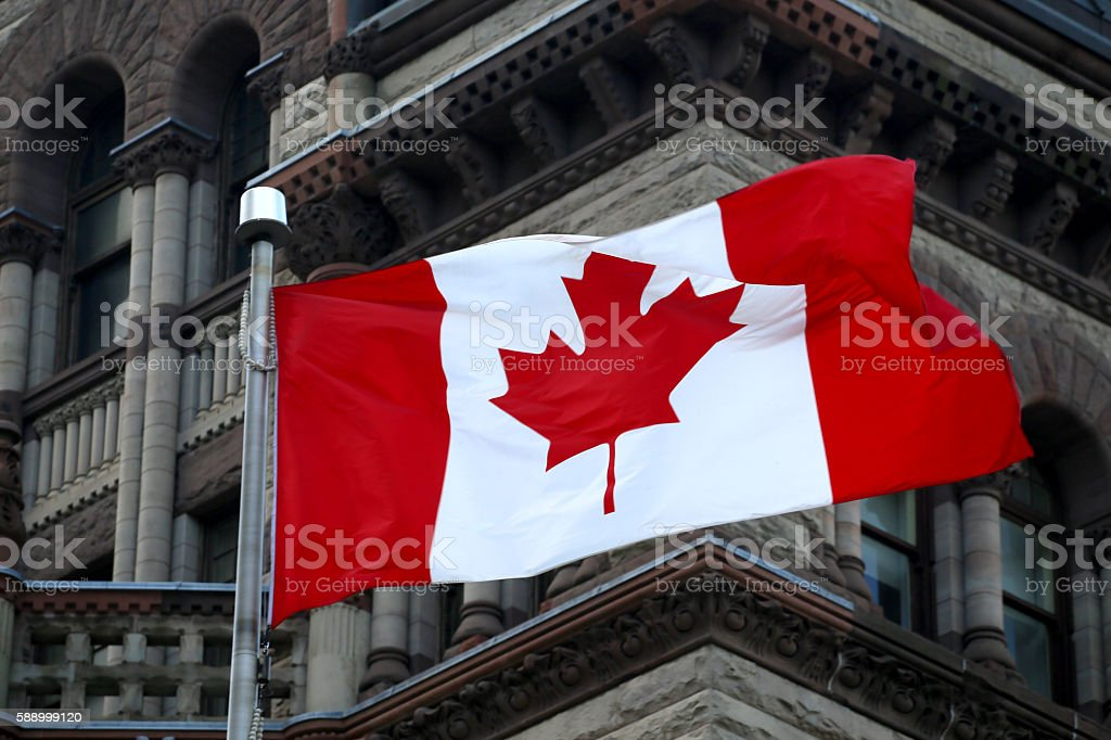 Bandera canadiense - foto de stock