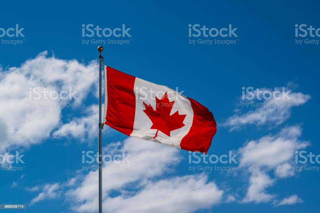 Canadian Flag Canadian Flag Canada Stock Photo