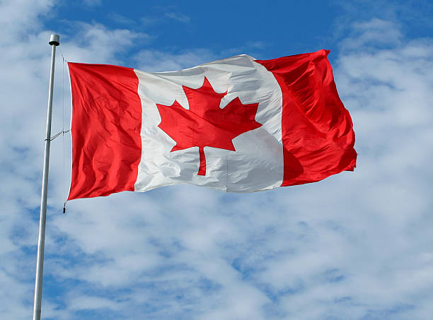 canadian flag - canada day stock pictures, royalty-free photos & images