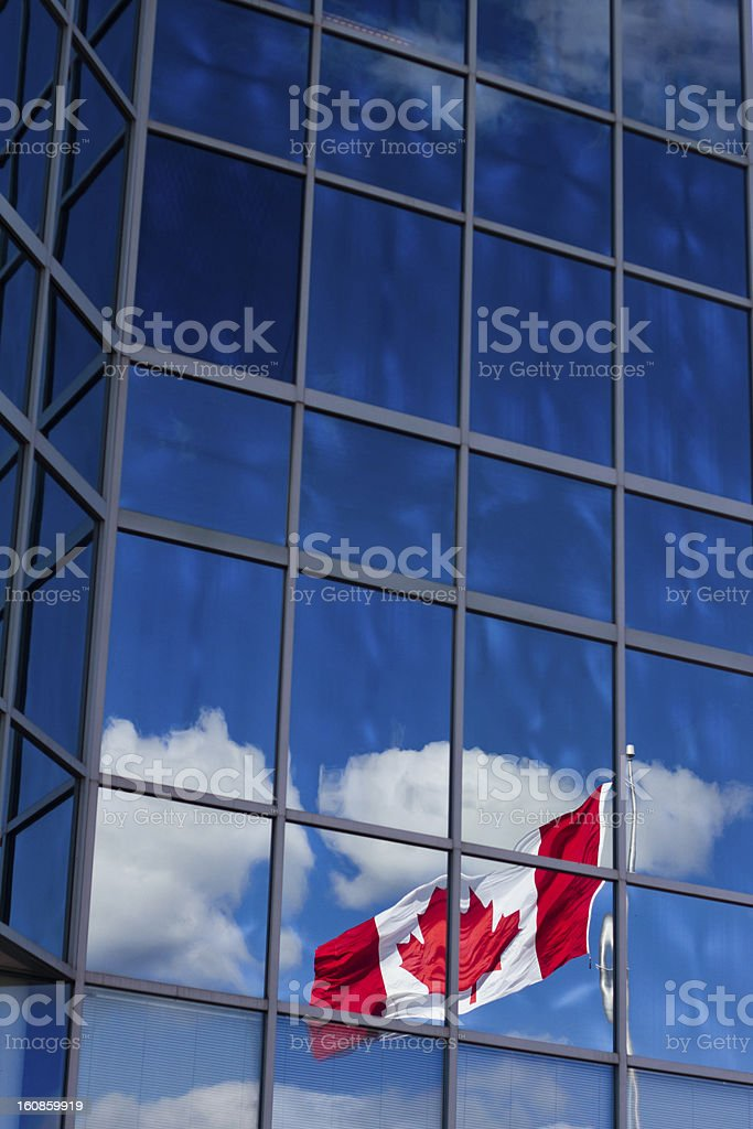 Canadian Flag Reflection royalty-free stock photo