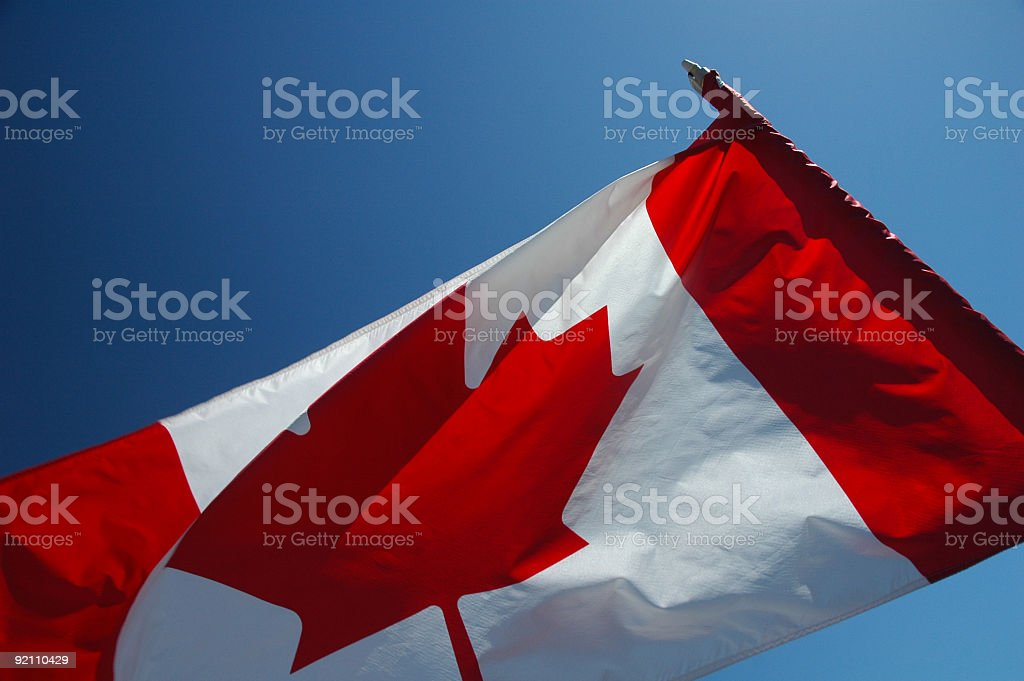 Canadian Flag -  Up Close 16 royalty-free stock photo