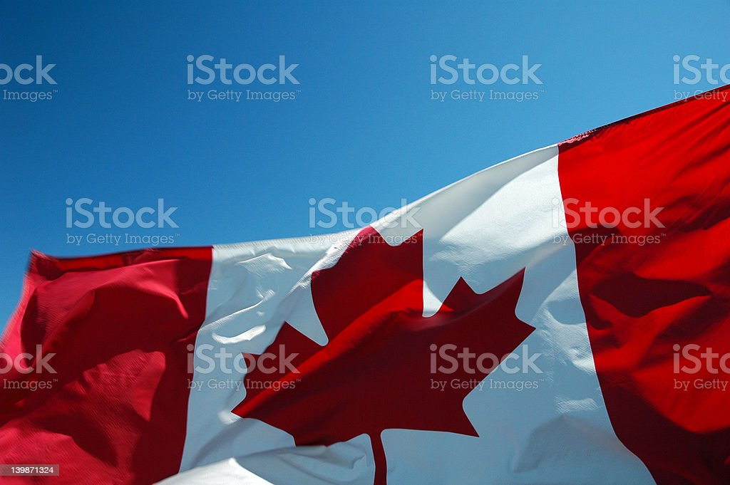 Canadian Flag -  Up Close 2 royalty-free stock photo