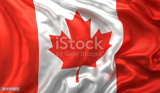 istock Canadian flag waving in the wind 914157872