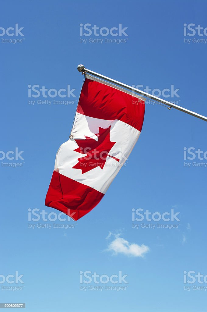Canadian flag waving royalty-free stock photo