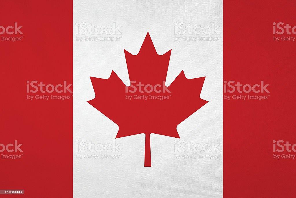 Bandeira Canadense com uma bela textura de cetim - foto de acervo