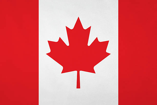 Canadian flag with nice satin texture Canadian flag with nice satin texture. canada flag photos stock pictures, royalty-free photos & images