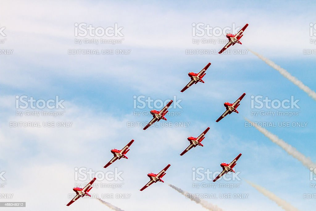 Canadian Forces Snowbirds royalty-free stock photo