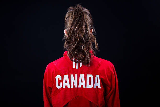 canadian girl stock photo