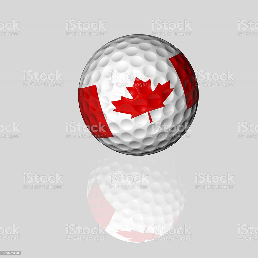 canadian golf ball royalty-free stock photo