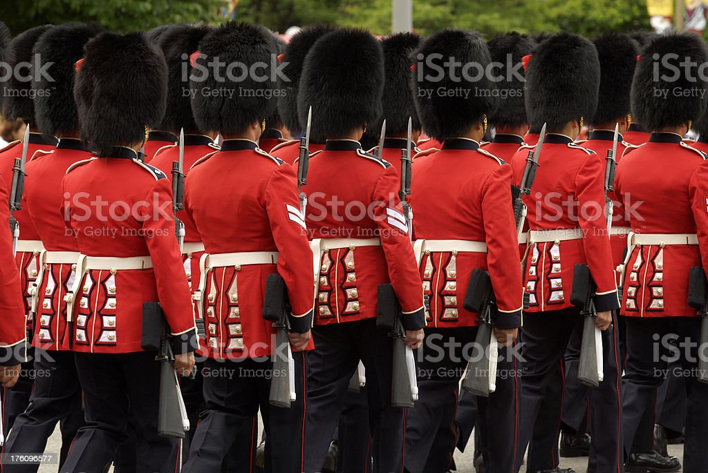 Canadian Guards royalty-free stock photo