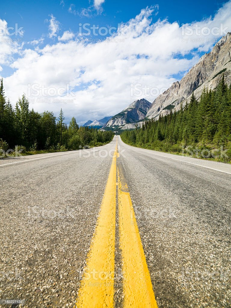 Canadian Highway Rural Street Scene royalty-free stock photo