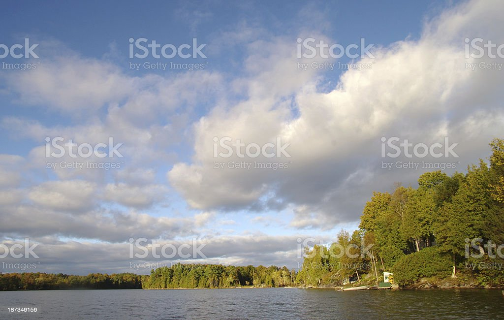 Canadian landscape in eastern Ontario royalty-free stock photo