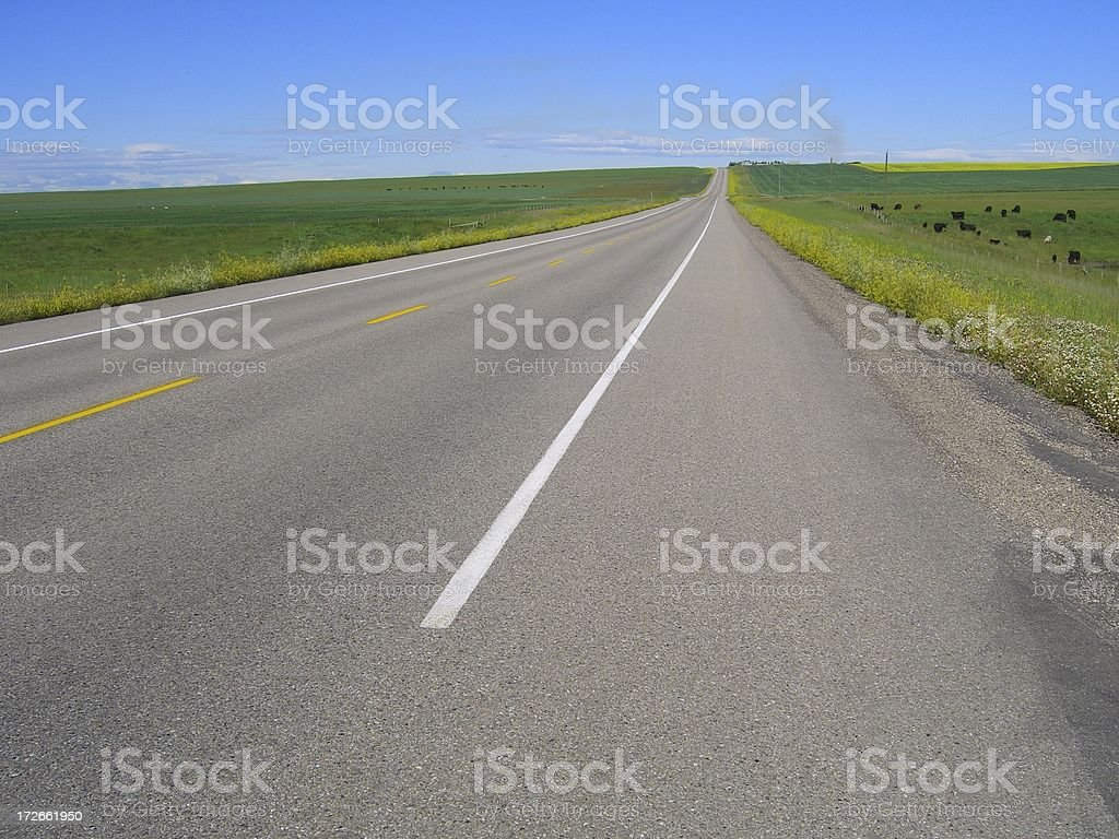Canadian Landscape: Prairie Highway royalty-free stock photo