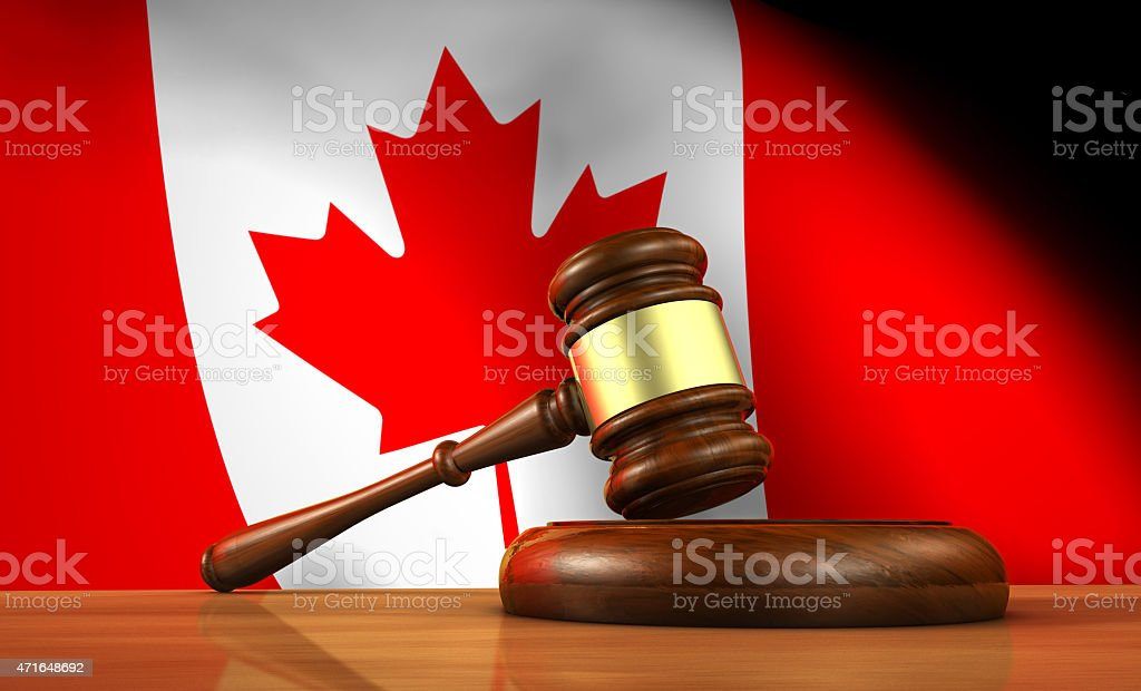 Canadian Law And Justice Concept stock photo