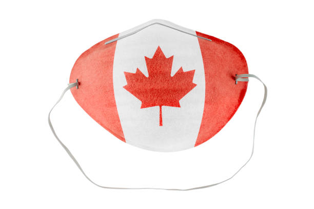Canadian medical mask stock photo