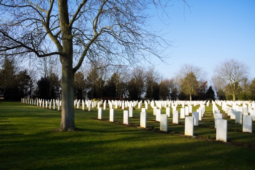 Canadian military cemetery (Reviers, Normandy)