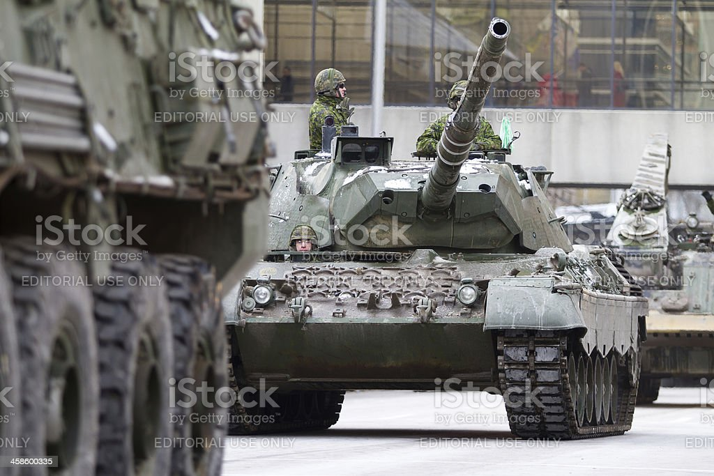 Canadian Military Leopard C2 Tank stock photo